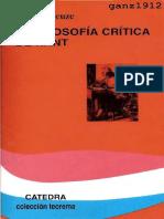 Deleuze, Gilles - La filosofía crítica de Kant (2008 Cátedra).pdf