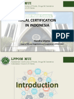 Indonesia Halal Certification Current and Future