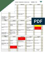 CALENDARIO DE EVALUACIÓN 3° A PDF