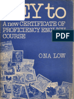 Low A New Certificate of Proficiency English Course Key