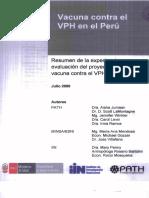 Resumen de la experiencia y evaluacion de la vacuna contra el VPH en Peru.pdf