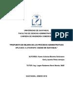 Tesis Propuesta de Mejora de Los Procesos Administrativos Aplicado a Litografic Ciudad de Guayaq