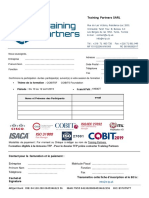 Fiche Inscription COBIT5 Foundation