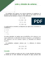 Multiplicación y División de Enteros