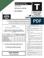 Prova Funcab Sefaz Ba Cargo Auditor Interno Ano 2014