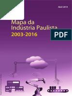Mapa Industria Paulista 2003-2016 SEADE