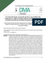 Do Protocolo Kyoto Ao Acordo de Paris