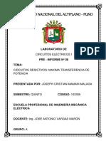 PRE - INFORME 8 - MAXIMA TRANSFERENCIA DE POTENCIA.docx