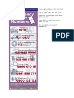 Cape Town emergency numbers.docx