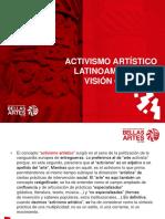 ACTIVISMO ARTÍSTICO LATINOAMERICANO, VISIÓN GENERAL.pptx