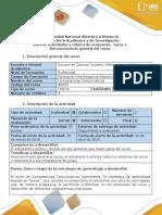 Guía de Actividades y Rúbrica de Evaluación - Tarea 1-Reconocimiento General Del Curso.