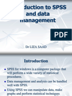 Introduction to SPSS and Data Management1