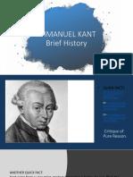 Presentation6 - Immanuel Kant Brief History