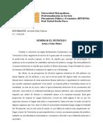 Sembrar El Petróleo, Por Arturo Uslar Pietri (Caracas, 1906 – 2001)