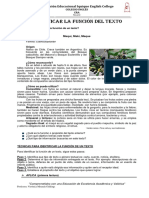 Estrategia 4P  N2- Identificar función de un texto