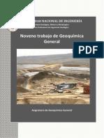 Octavo Trabajo de Geoquímica General