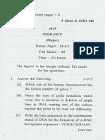 Bsc Zoology m Sem 4 Paper m 4.2 2015