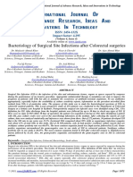 Bacteriology of Surgical Site Infections After Colorectal Surgeries