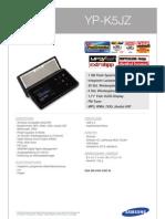 Samsung YP-K5 (Informationen)