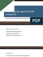 Información General Del Proyecto