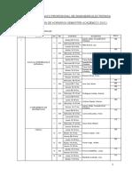 Horario de Teoria y Laboratorio de La EAPI Electrónica 2015 I1