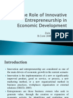 The role of innovative entrepreneurship in economic development