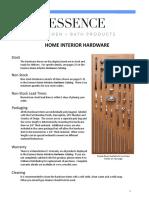 Essence Hardware Stock List