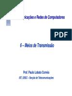 Telecomunicações e Redes de Computadores - Meios de Transmissão.pdf