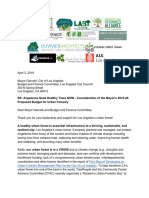 Final Group Letter of Urban Forestry Budget to Mayor's Office and Budget Committee