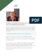 Entrevista Carenity Cancer de Seno y Libro Alimentacion