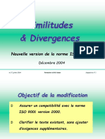 Similitudes & Divergences v 2004