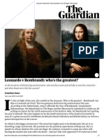 Leonardo v Rembrandt_ Who's the Greatest_ _ Art and Design _ the Guardian