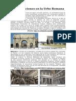 Construcciones en La Urbe Romana