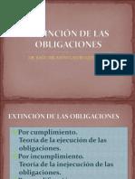 extinción de obligaciones peru