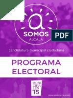 2015 Programa Electoral Somos Alcala Digital
