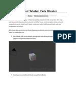 Cara Membuat Tekstur Pada Blender.docx