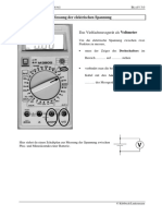 Messung der elektrischen Spannung  - Voltmeter