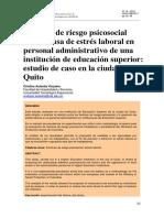 Factores de riesgo psicosocial como causa de estrés laboral en personal administrativo de una institución de educación superior-estudio de caso en la ciudad de Quito.pdf