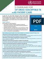 DS TB Treatment Factsheet