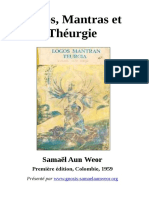 1959 Samael Aun Weor Logos Mantras Et Théurgie