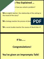 Writing an Impromptu Speech (1)