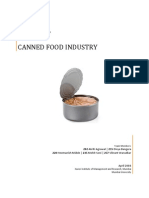Canned Food Industry Structure Analysis