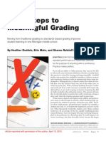 Steps Meaningful Grading