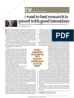 The Road to Bad Research is Paved With Good Intentions 2019_Finkel