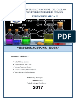 Sistema Acetona - Agua