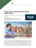 'O Governo é Um Deserto de Ideias' - Estadão