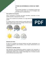 EL CLIMA Y LOS FACTORES QUE DETERMINAN EL ESTADO DEL TIEMPO 1.docx