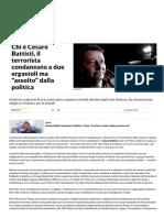 Chi è Cesare Battisti - Il Terrorista Condannato a Due Ergastoli Ma assolto Dalla Politica - Repubblica
