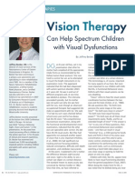 Vision Therapy Can Help Spectrum Children with Visual Dysfunctions by Jeffrey Becker, OD
