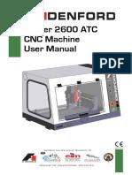 Router 2600 ATC Operator Manual